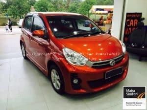 Perodua Myvi 1.3 Icon (A) – Orange