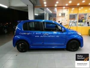 Perodua Myvi 1.5 Advance (A) – 2017 Blue