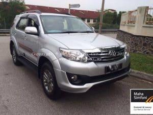 Toyota Fortuner 2.7V TRD (A) 2015 – Silver