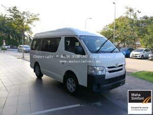 Toyota Hiace 2.5 Turbo Diesel (M) 13 Seater – White