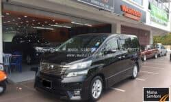 Toyota Vellfire 2.4 (A) 7 Seater – Black