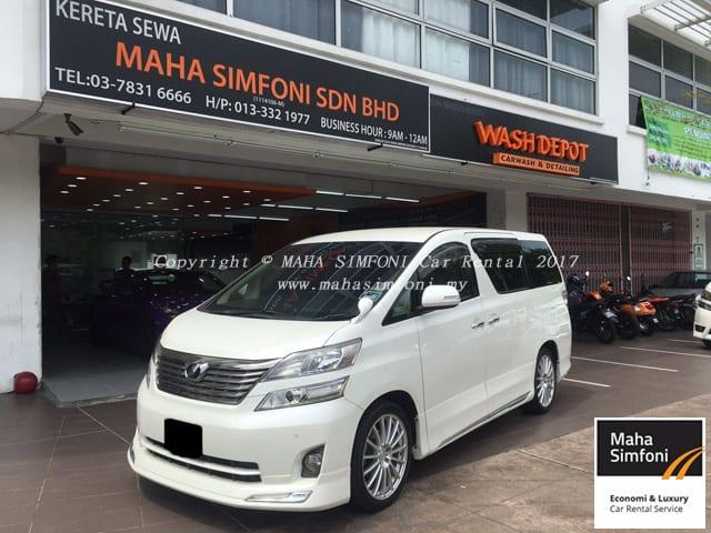 Toyota Vellfire 2 4 A 8 Seater White Maha Simfoni Kereta