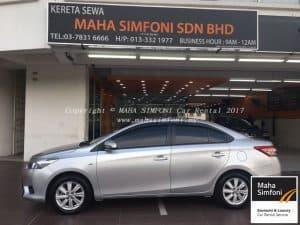 Toyota Vios 1.5 (A) Silver A 2016 1