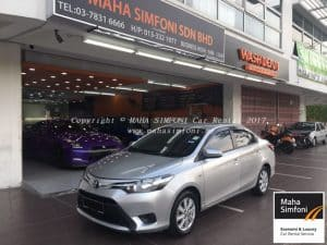 Toyota Vios 1.5 (A) 2016 – Silver/White/Black