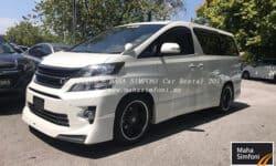 Toyota Vellfire 2.4 Pilot Seat (A) 7 Seater – White
